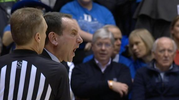 Coach K erupts on Cameron Crazies