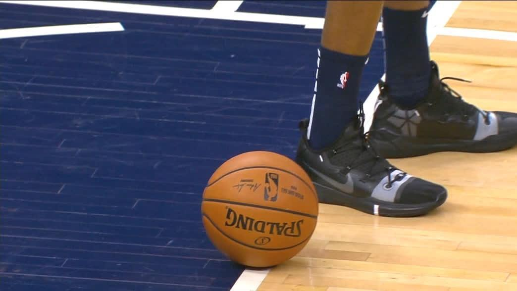 Wiggins places ball on free-throw line where Kobe broke MJ's scoring record