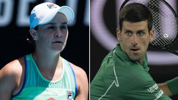 Semi-final action for Djokovic, Federer and Barty
