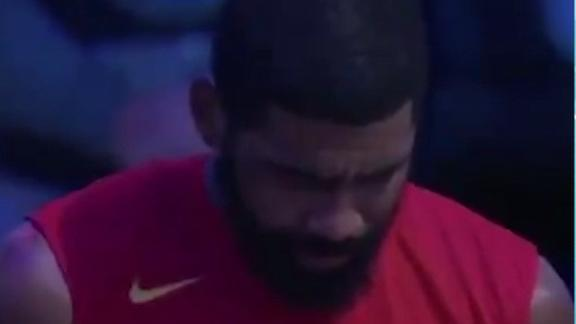 Kyrie emotional during Nets' tribute to Kobe