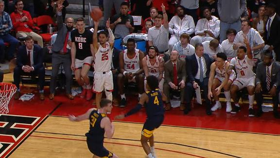 Moretti drains corner 3 as Texas Tech tops No. 12 West Virginia