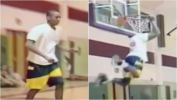 15-year-old Kobe Bryant dominates slam dunk contest