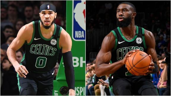 Brown and Tatum torch Sixers in Celtics' win
