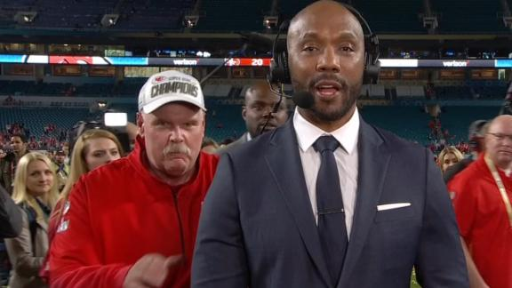 Andy Reid tries to video-bomb Riddick, ends up on SVP