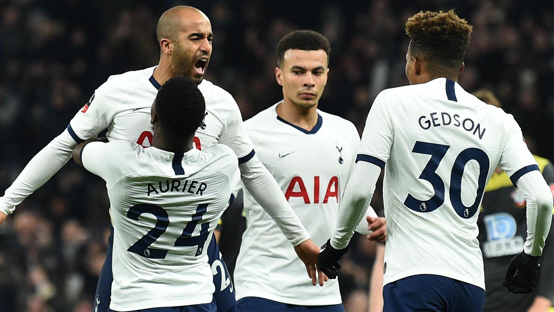 Lucas Moura puts Tottenham back level with Southampton