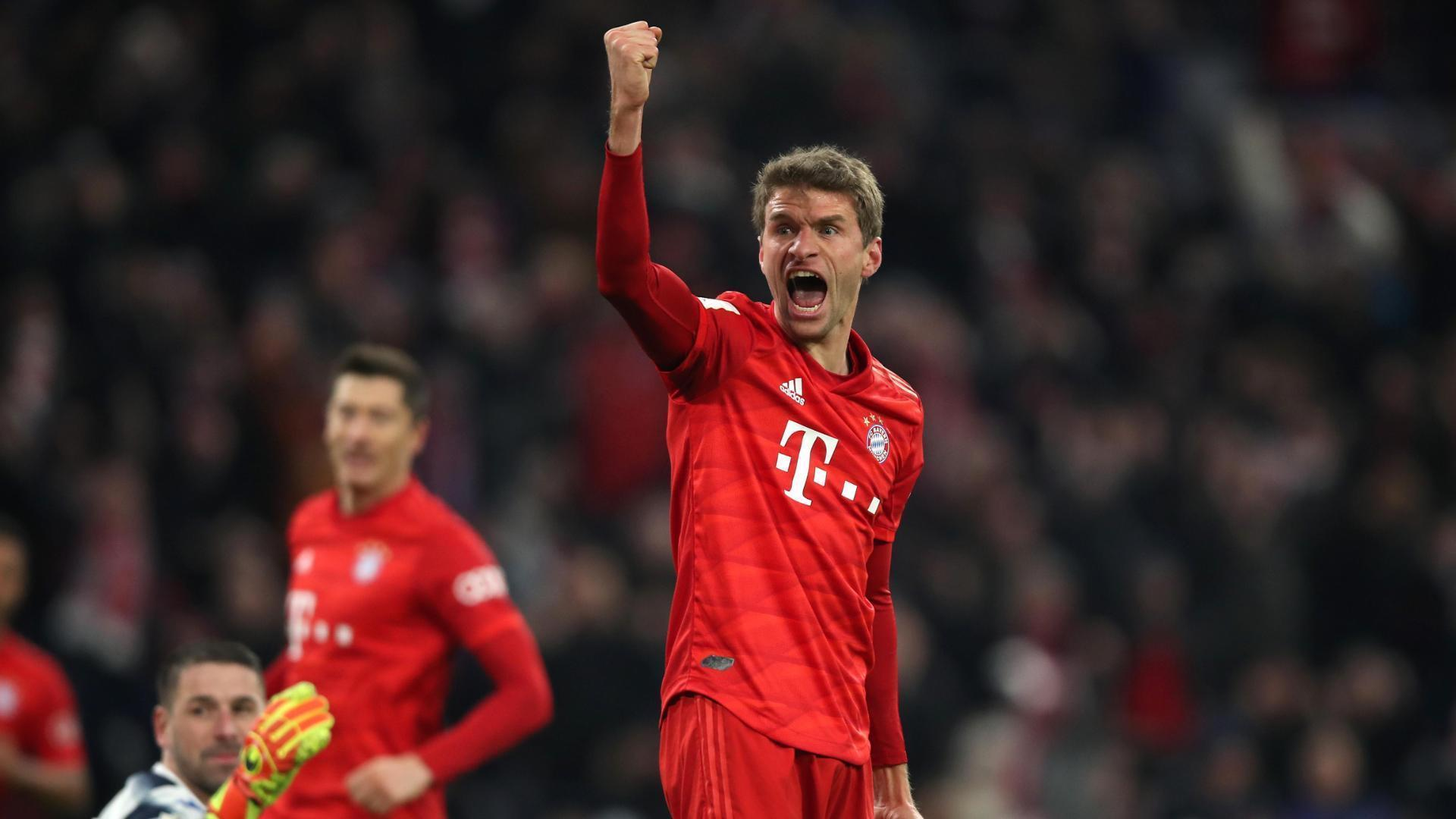 Thomas Muller adds Bayern Munich's second goal