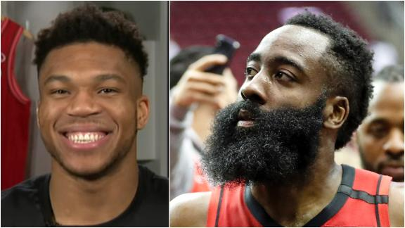 Giannis trolls Harden: 'I want somebody who's gonna pass the ball!'
