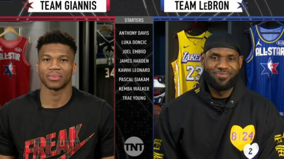LeBron, Giannis select All-Star starters