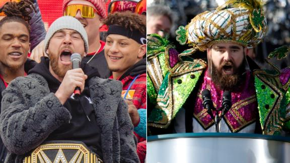 Which Kelce brother celebrated his Super Bowl win better?