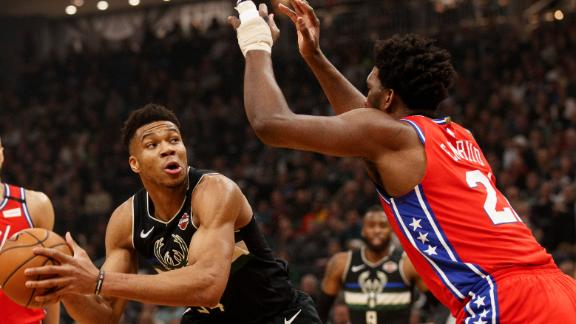 Giannis has his way with Embiid multiple times in dominant win
