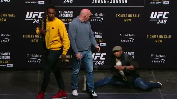 Adesanya, Romero go into a dance-off at press conference