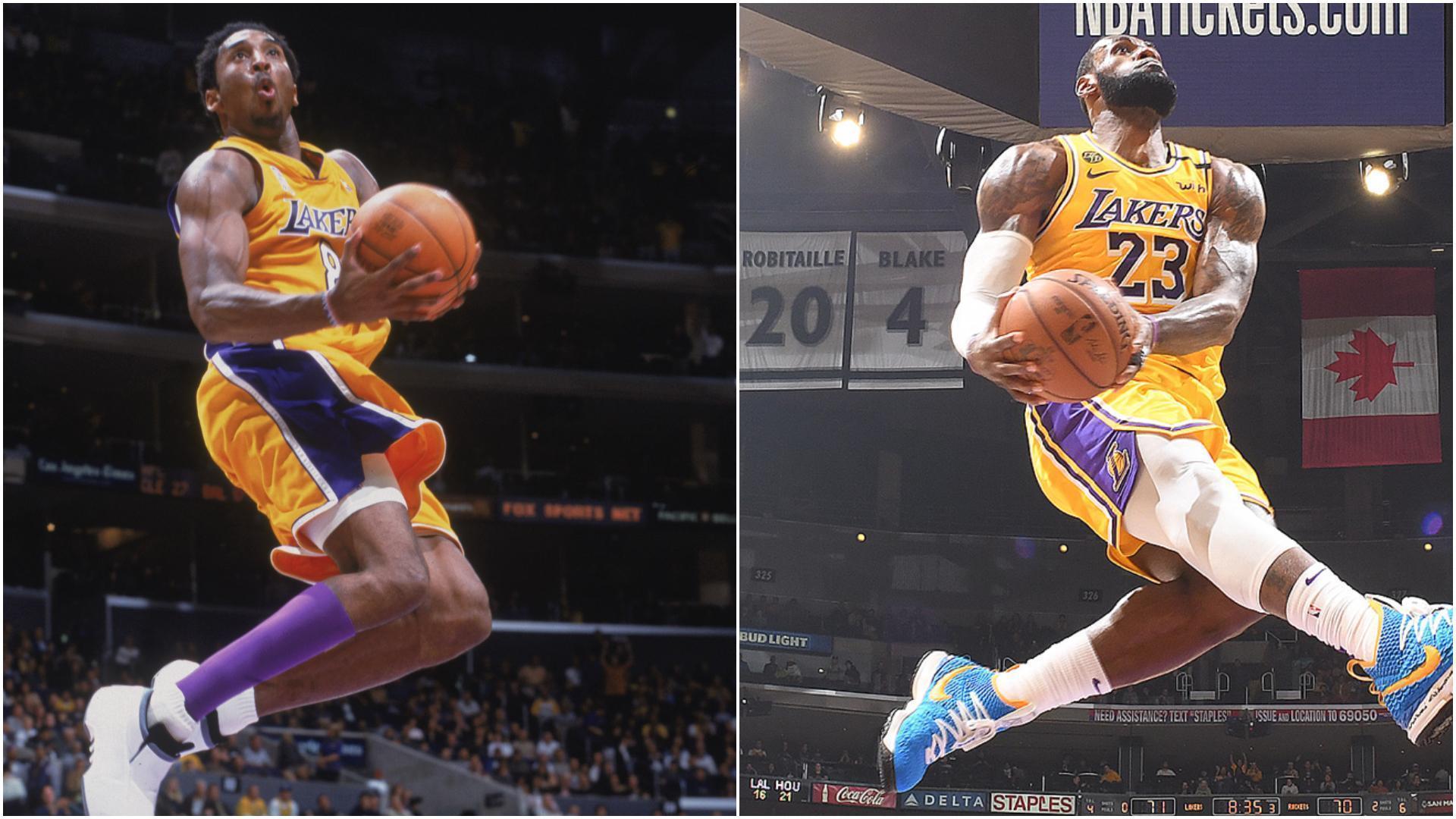 LeBron's reverse slam mirrors Kobe's 19 years later WatchESPN