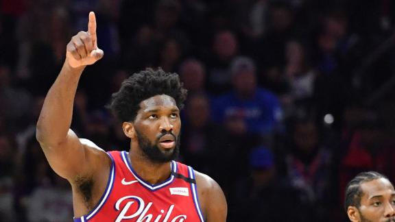 Embiid overcomes boos, shoves and chaos in impressive 26-point performance