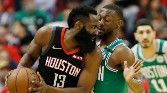 Harden, Westbrook cook Celtics for combined 78 points