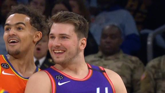 Luka banks in half-court heave over Trae
