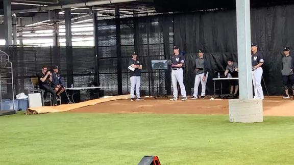 Gerrit Cole throws his second bullpen of the spring as a member