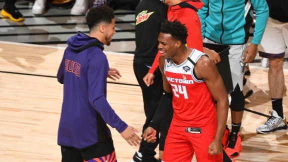 Hield beats Booker on the last shot to win 3-point contest