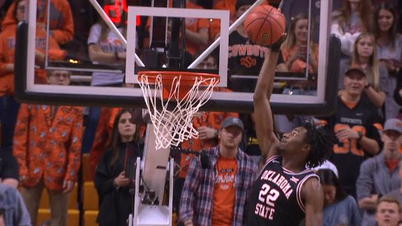 Likekele lobs it to Boone for the one-handed jam