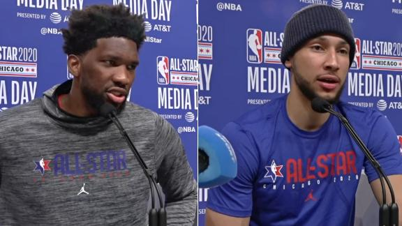 Simmons, Embiid speak highly of each other despite criticism