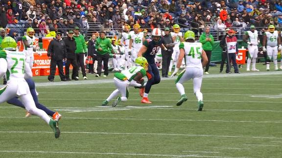 McFadden's pick-6 gives Vipers their first TD
