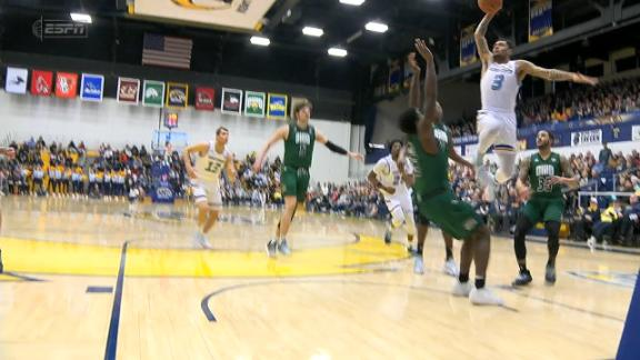 Kent State's Simons flattens defender with an and-1 poster