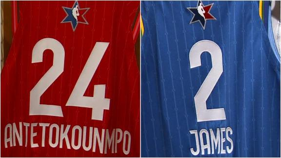 All-Star jerseys pay tribute to Kobe and Gianna Bryant
