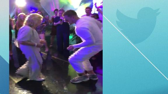 Watt and his grandma tear up the dance floor