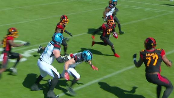 Miller picks off Jones' pass