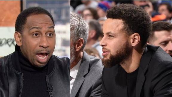Stephen A. sends a passionate message to Steph, Klay
