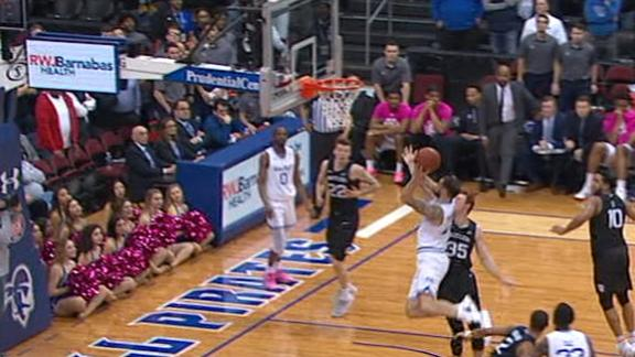 Seton Hall wins at buzzer on Mamukelashvili's alley-oop layup