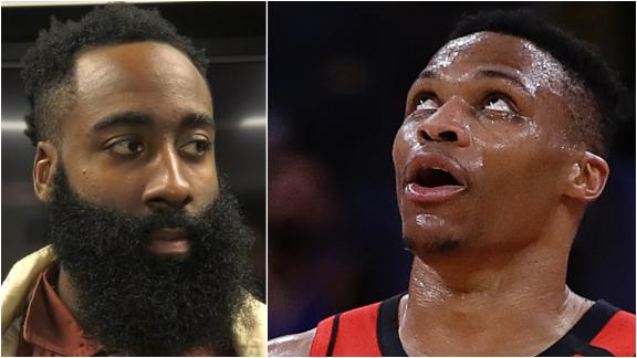 Harden reacts to Westbrook's outburst, ejection