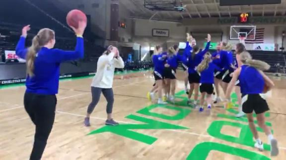 SDSU women hit 5-straight half-court shots