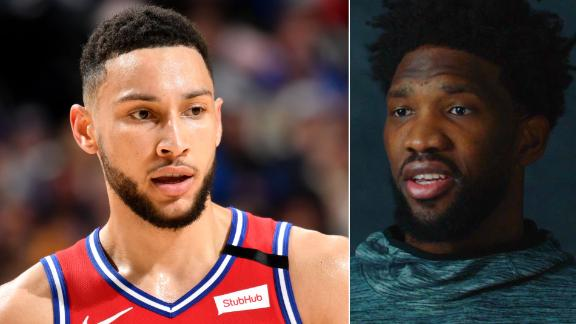 Embiid reacts to critics' questions about playing with Simmons