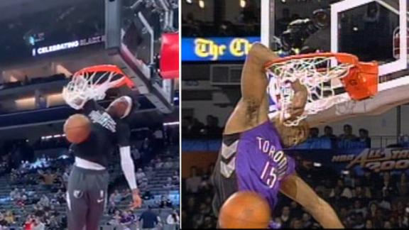 Ja Morant throws it back with Vince Carter's 'honey dip' dunk