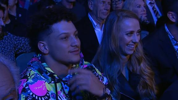 Mahomes, Draymond among sports stars in the house for Wilder-Fury rematch