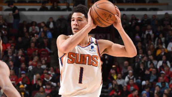 Booker leads the Suns with 29 points