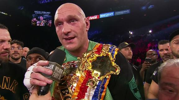 Fury shouts out Wilder after his TKO in 7th