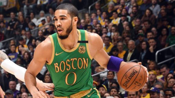 Tatum racks up 18-point 2nd-quarter for Celtics