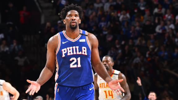 Embiid goes off for career-high 49 points vs. Hawks