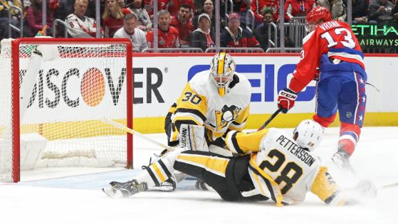 Caps top Penguins with bizarre goal