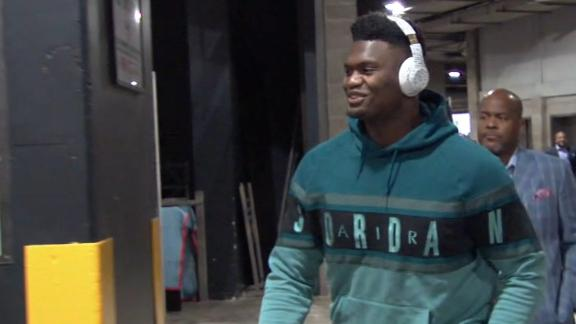 Zion arrives for first game vs. Lakers, LeBron