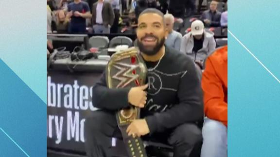 Drake trolls Bucks with wrestling title belt