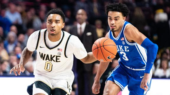 Childress clutch in Wake Forest's upset of Duke in 2OT