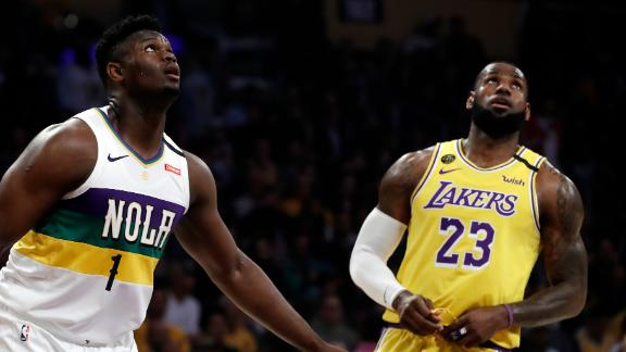 LeBron's first duel vs. Zion ends with season-high 40 points