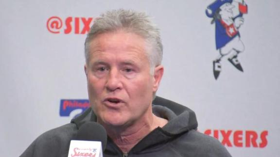 Brown addresses how the 76ers go on without their All-Stars