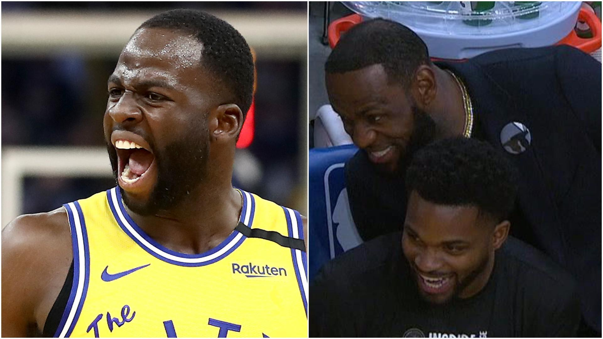 LeBron has no chill cheering on Draymond's ejection