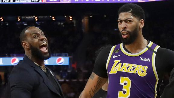 AD, Lakers handle Warriors without LeBron