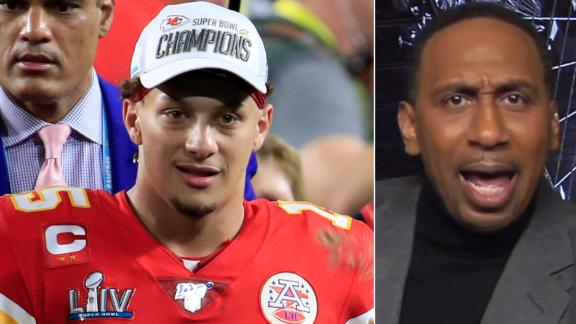 Stephen A. gets heated talking about Mahomes and Brady