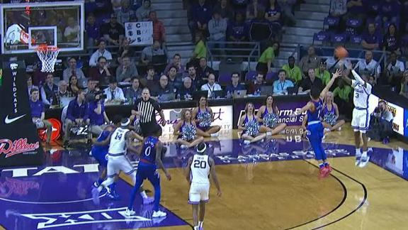 Kansas State's Gordon splashes a corner triple