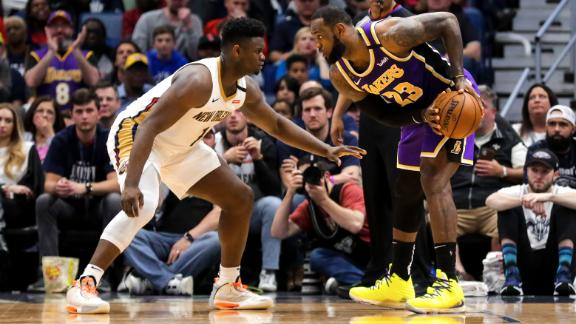 LeBron notches triple-double, Zion scores career-high in epic duel